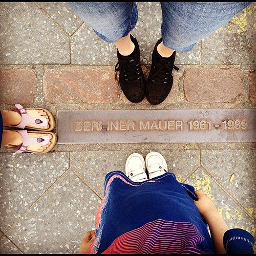 Standing where the Berlin Wall once stood #366/183 | by klbeasley
