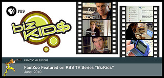 "June 2010: FamZoo Featured on PBS TV Series ""BizKids"" 
