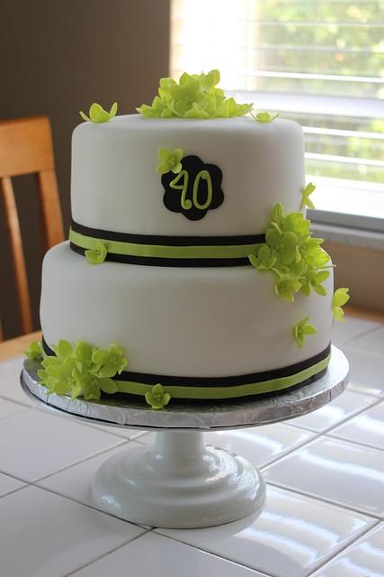 Green Hydrangea Cake