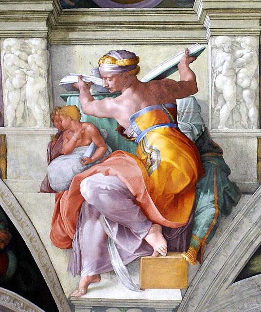 Sixtinische Kapelle, Michelangelo, Libysche Sibylle (Libyan Sibyl)