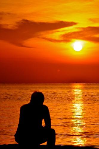 sunset silhouette sunrise loneliness johor maur westmalaysia