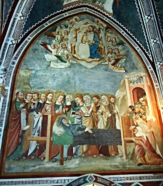 Gothic chapel with frescoes by a unknown painter of Siena, 14th century: