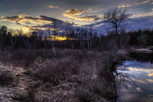 sunset weather clouds maine hdr highdynamicrange washingtoncounty cherryfield