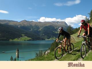 Mountainbiking am Reschensee