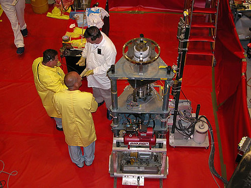 The Godiva Critical Assembly or Godiva IV is disassembled