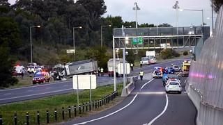 Crash scene M7 Motorway   by Highway Patrol Images