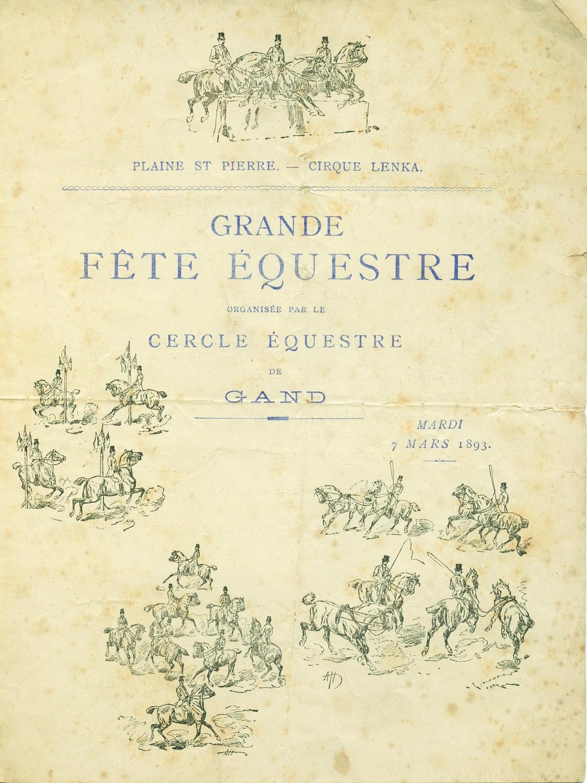 Paarden dressuur, 1893