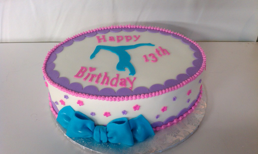 Fantastic Gymnastic Birthday Cake Inspiration From Springlake Cakes Flickr Personalised Birthday Cards Paralily Jamesorg