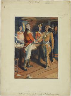 Meeting of Brock and Tecumseh, 1812 / Rencontre de Brock et du chef de guerre Tecumseh, 1812