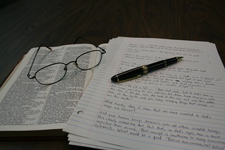 Bible, Reading Glasses, Notes and Pen | by paul.orear