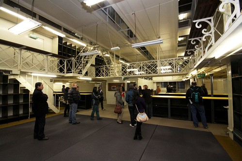 Three levels of fun inside the main strongroom