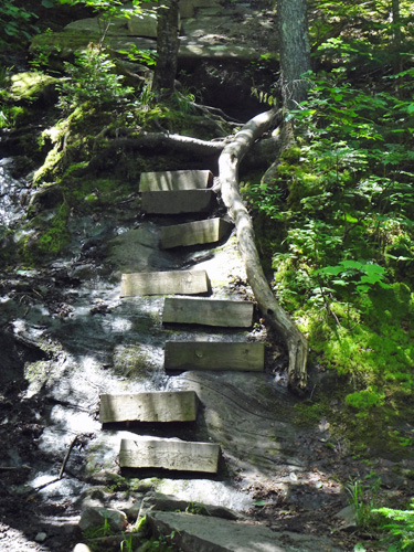 Stairs on Beaver Brook Trail
