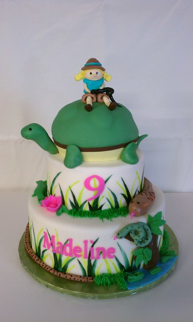 Reptile Themed Birthday Cake