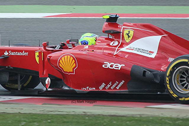 Felipe Massa in his Ferrari F1 car during the 2012 British Grand Prix at Silverstone