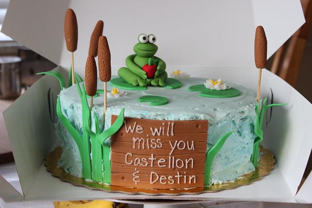 Froggy Farewell Cake