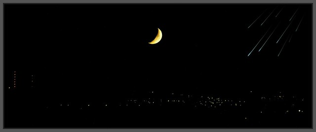 Crescent Moon over West Fife