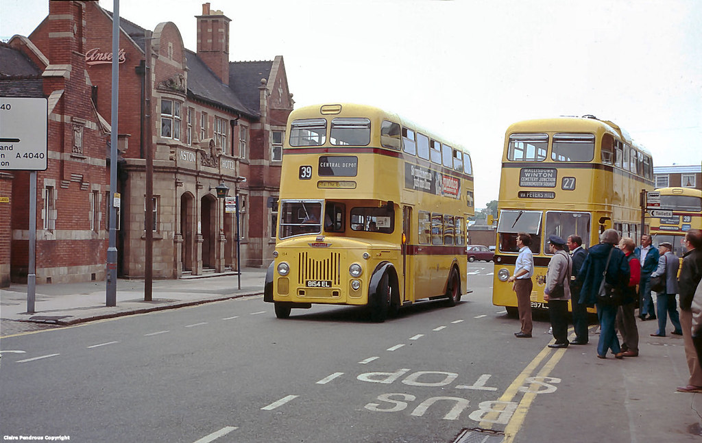Bournemouth buses outside the Aston Hotel, Witton, Birming