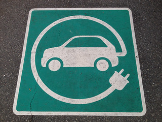 Electric Car Charging Pavement Marking