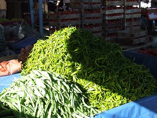Turkey - Altinkum - Market - Chillies and Beans