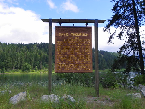 David Thompson Historical Sign | by J. Stephen Conn