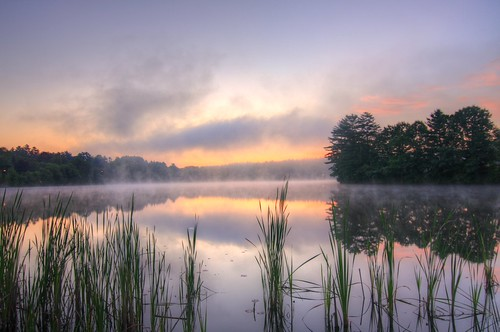 morning lake sunrise pond steam pratt