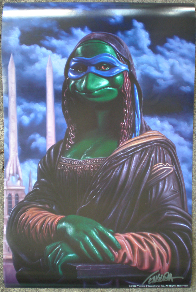 "Ron English's ""LEONARDO as MONA LISA"" ; SDCC Exclusive Poster - Signed by RON  i ((  2012 )) by tOkKa"