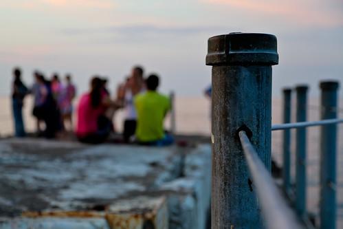 newyork colors fence grit pier rust neon post bokeh cable greatlakes rochester lakeontario peeps kerouac geneseeriver charlottepier