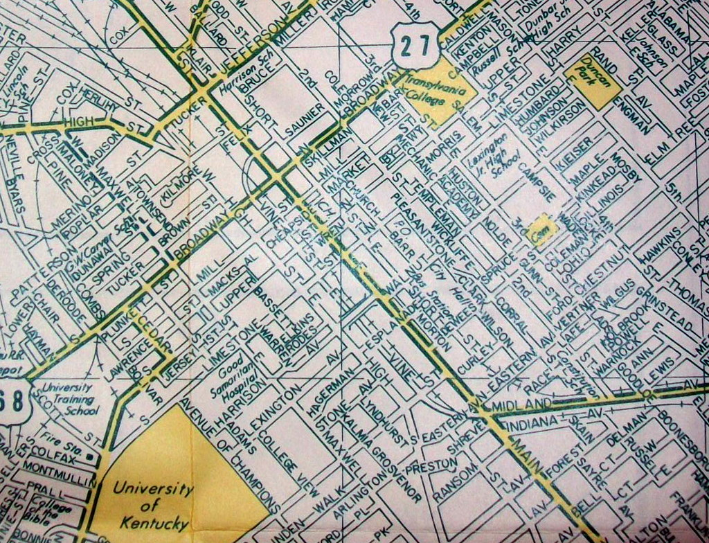 Lexington KY (Oct 1971) | Map by Arrow Maps  Published for a