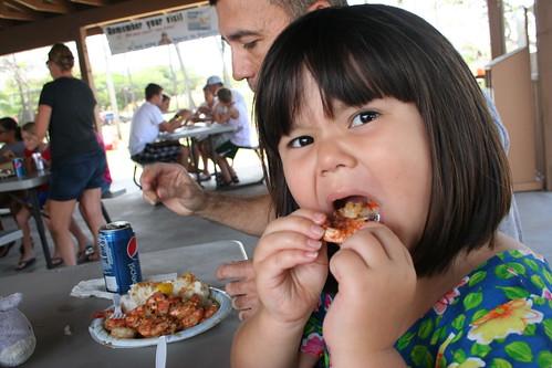 Momo Enjoying Giovanni's!
