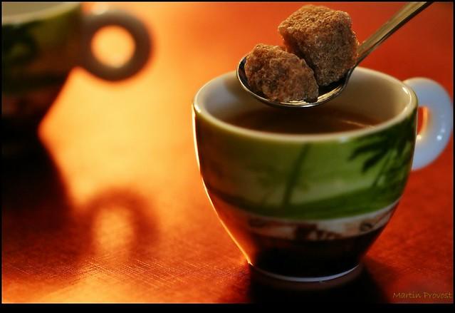 Caffè espresso con zucchero