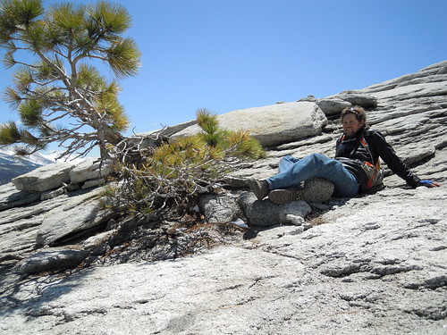Hiking (and Climbing) Half Dome: Matt is so happy to have found a comfortable lounge   by mormolyke