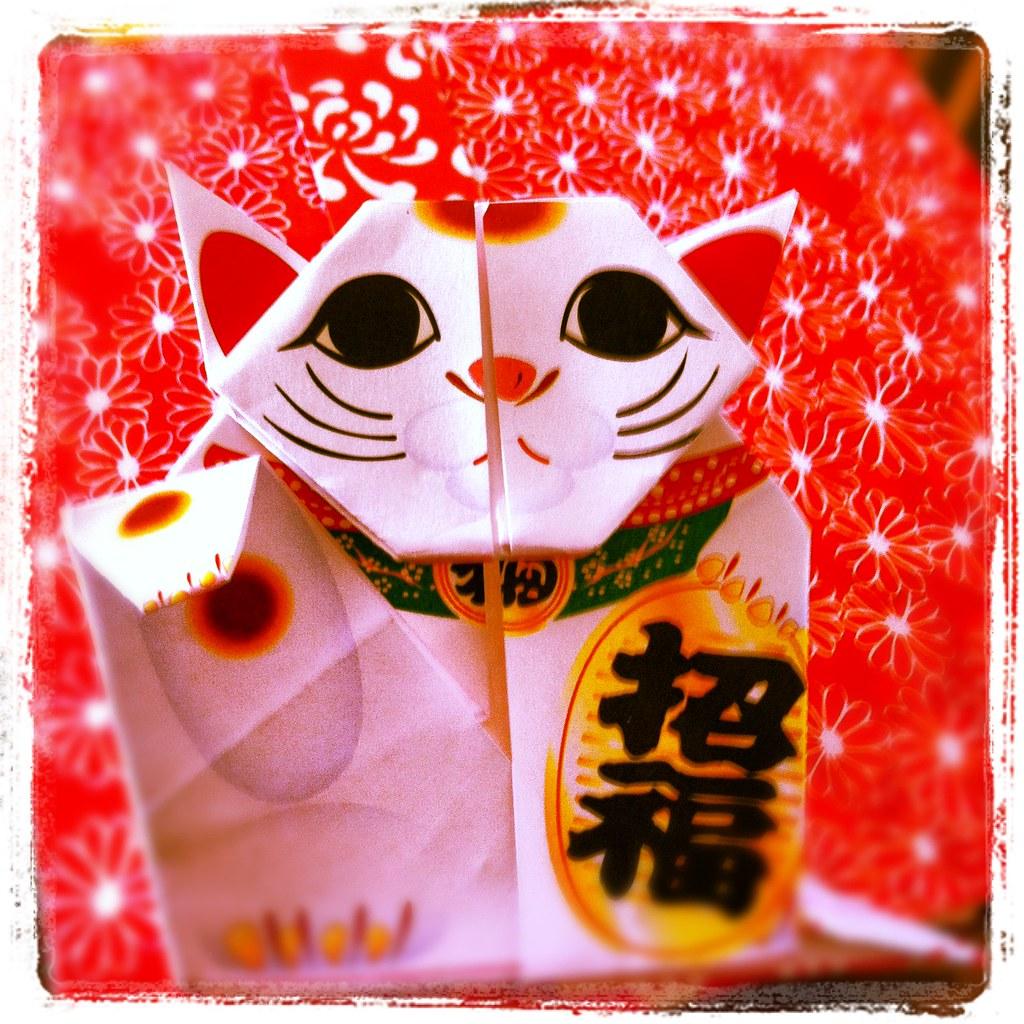 Maneki Neko – Lucky cat | Digitprop - Paper design | 1024x1024