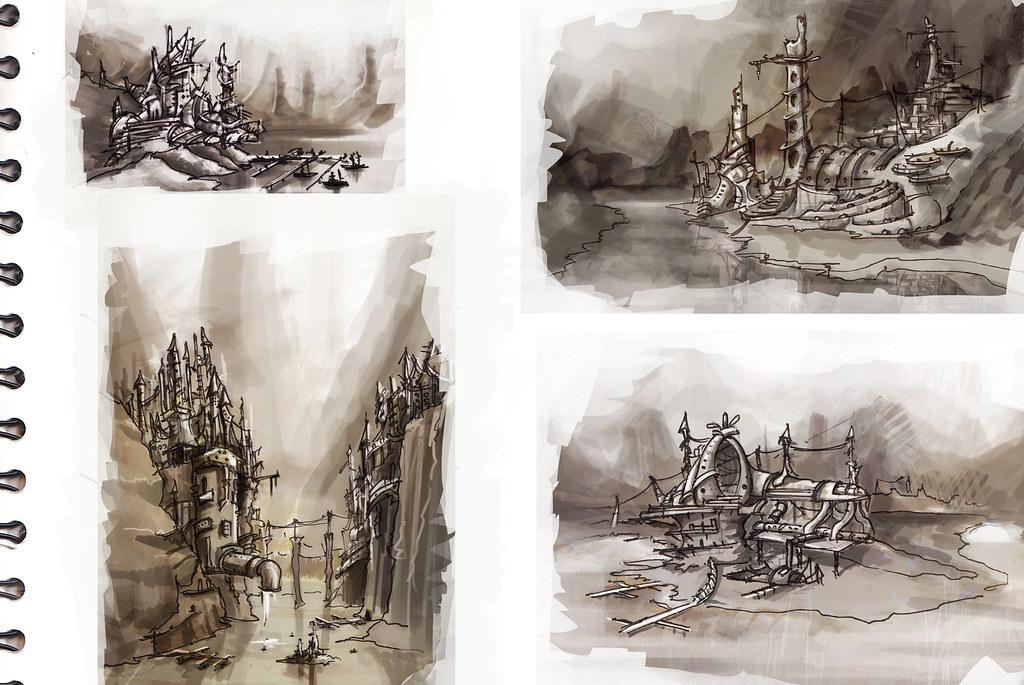 Environments Concept Sketches Environment Concept Art S
