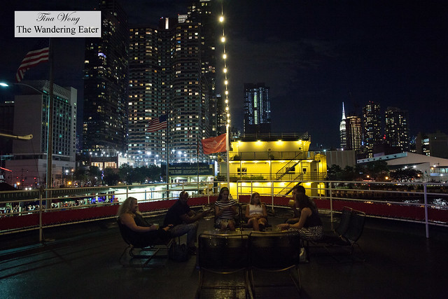 Looking out on deck with a view of west Midtown