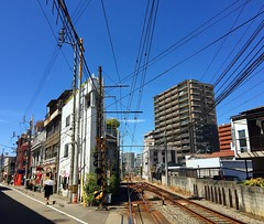 Area next to the Matsuyama train station. It feels so powerful and dynamic with sharply cut buildings and power lines. #japan #japanese #backstreet #cityscape #japonia #instarchitecture #matsuyama #ehime #shikoku #instalike #instagram #japaneseculture #ja