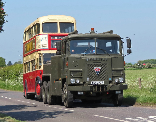 Scammell Crusader Recovery lorry and AEC Regent Bus