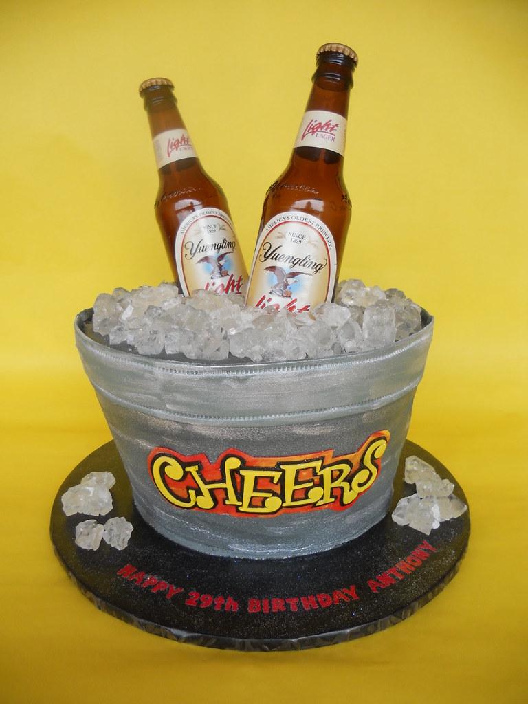 Marvelous Beer Tub Birthday Cake Amy Stella Flickr Funny Birthday Cards Online Sheoxdamsfinfo