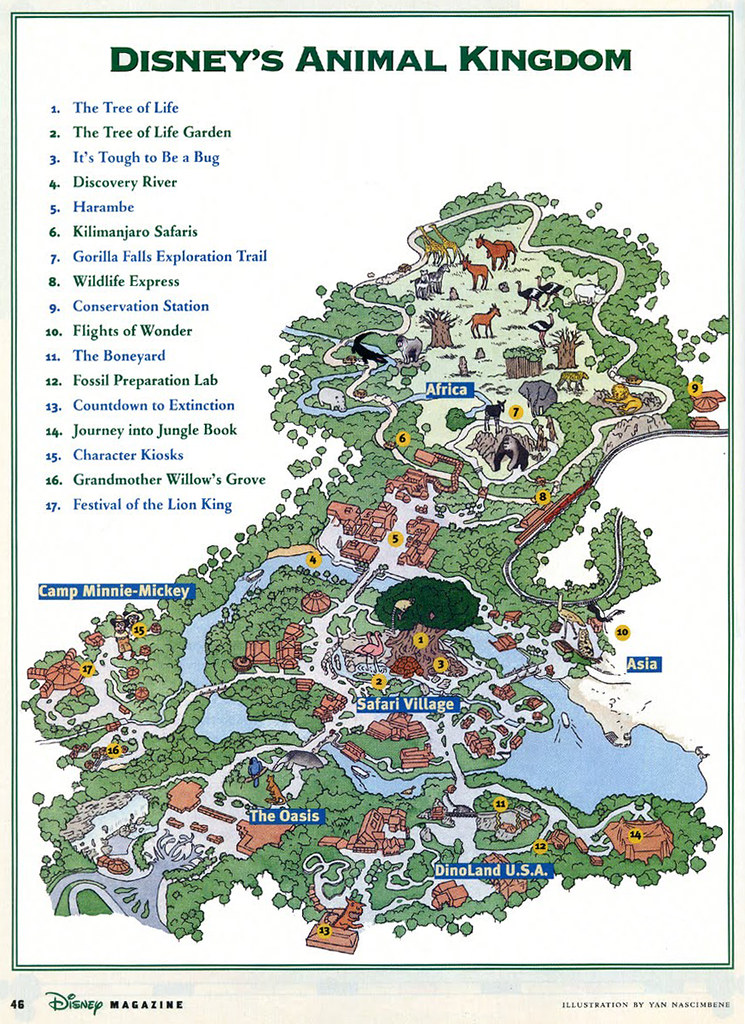 Animal Kingdom (1998) | Walt Disney World Orlando, FL © Disn ... on map of last night, map of restrepo, map of first landing, map of sea world san antonio, map of butler chain of lakes, map of arthur, map of universal studios orlando, map of nickelodeon suites resort, map of tammy, map of serenity, map of downtown disney, map of wizarding world of harry potter, map of espn wide world of sports complex, map of epcot, map of the kentucky derby, map of disney world, map of blizzard beach, map of disney village, map of typhoon lagoon, map of hollywood studios,