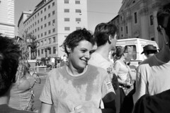 2012-06-23 Roma Gay Pride ragazza via Cavour BW