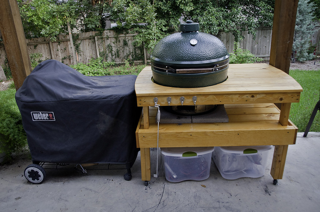 Pleasant Big Green Egg Table My Latest Project Was To Build A Table Download Free Architecture Designs Rallybritishbridgeorg