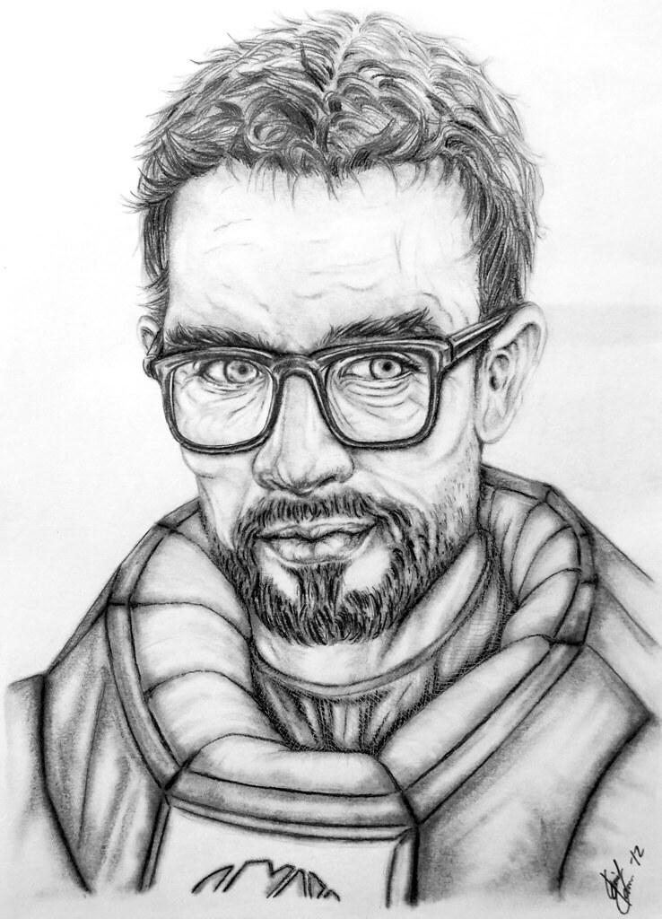 Gordon Freeman This Pencil Illustration Of Gordon Freeman