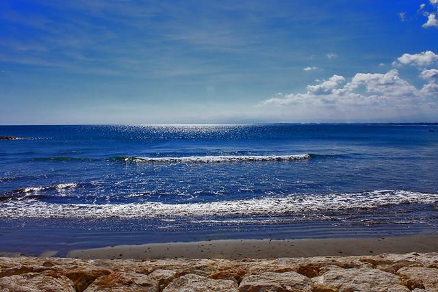 Sky blue sea blue