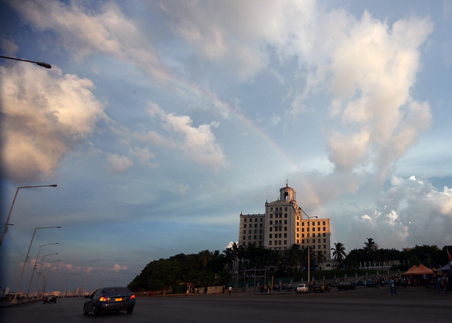 Arcobaleno sull'Hotel National de Cuba