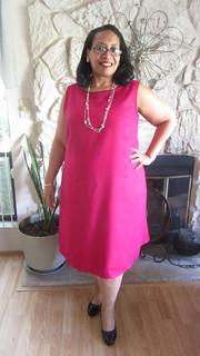 Dress facing forward