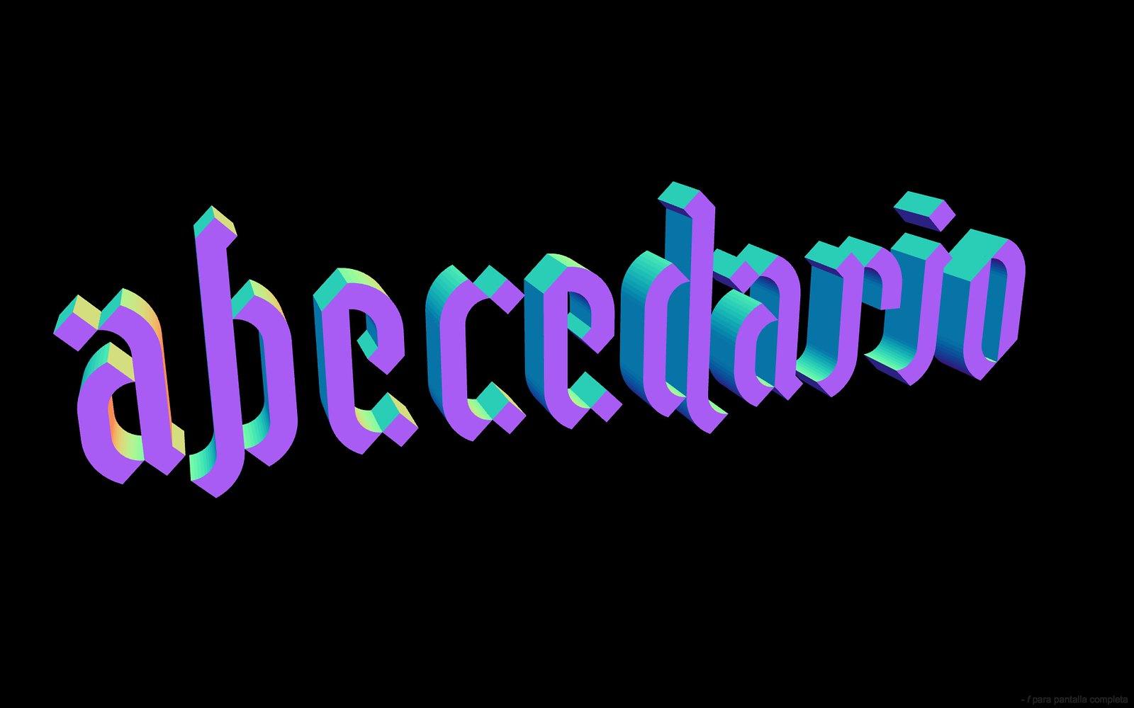 Gramapoética abecedario color
