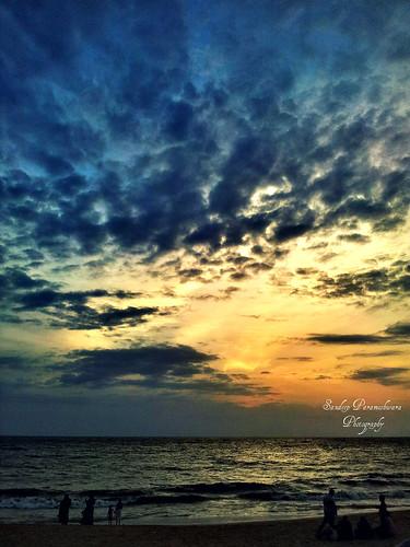 blue sunset sky beach clouds landscape karnataka mangalore arabiansea southcanara