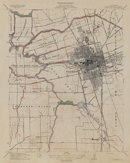 Stockton, California Quadrangle Topographic Map, 1913