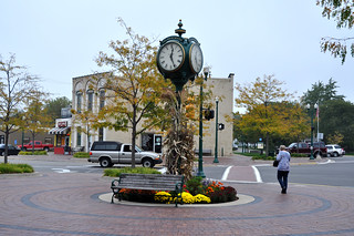 Downtown Dexter and Clock Tower Fall 2012 Photo by Michigan Municipal League