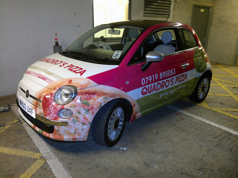 Quadros Pizza Fiat 500 A Full Wrap In Printed Vinyl For Qu Flickr