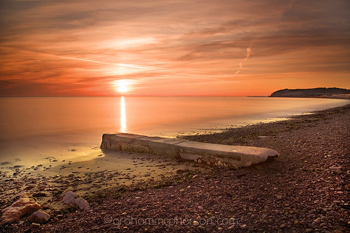 beach bay somerset blueanchor grahammcpherson coastdawn
